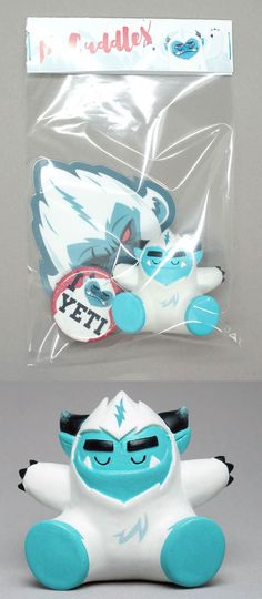 "SpankyStokes.com | Vinyl Toys, Art, Culture, & Everything Inbetween: ""Mr Cuddles"" Yeti resin figure by DexDesign!!!"
