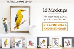 16 Etsy Friendly Print Mockups by DrifterStudioPrints on @creativemarket