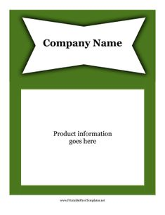 This printable advertising flyer is green with lots of room to customize with information about an event, sale, or business. Free to download and print