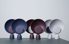 The full array of Danish brand Please Wait To Be Seated's 'Planet' table lamp (It has now been given a new name: the 'Blooper table lamp'). The light was designed by Mette Schelde and has been nominated for a Danish design award. Luminaire Design, Lamp Design, Lighting Concepts, Lighting Design, Light Table, Lamp Light, Desk Light, Planet Lamp, Stockholm Design
