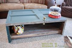 Repurposed door into coffee table     Woodmaster Woodworks, Inc.