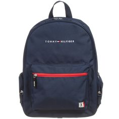 Tommy Hilfiger Navy Blue Backpack with Pencil Case at www. Preppy Backpack, Backpack For Teens, Backpack Bags, Fashion Backpack, Mochila Tommy, Mochila Nike, Cute Backpacks, School Backpacks, Sacs Tote Bags