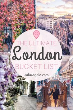London bucket list ideas and inspiration- 75 attractions you must visit in the capital of the UK! 75 things to do in London, as well as see, visit and eat in England, Europe!