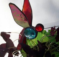 Stained Glass Hummingbird Hanging Bird By Suncatchercreations