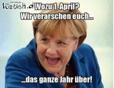 Angela Merkel verarscht uns