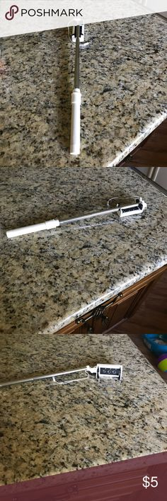 White selfie stick White selfie stick used once in very good condition. Accessories