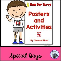 Terry Fox Posters and Activities - Classroom Freebies Teacher Freebies, Classroom Freebies, Classroom Ideas, Fox Coloring Page, Free Coloring Pages, Canadian Social Studies, Getting Him Back, Back To School Activities, Classroom Management