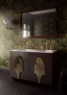 Modern Art Deco Bathroom Bath 27 Ideas For 2019 Bathroom Vanity Designs, Art Deco Bathroom, Bathroom Trends, Bathroom Interior, Bathroom Vanities, Bathroom Furniture, Art Deco Stil, Modern Art Deco, Kitchen Vanity