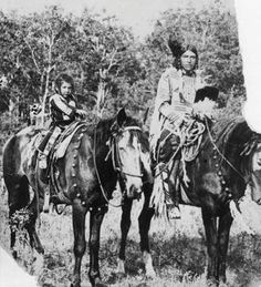 Poundmaker Jr. and his son - Cree - 1896