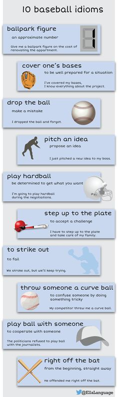 NEW! 10 baseball #idioms  #ESL #ELT #English