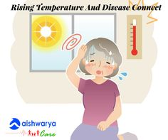 …whenever the temperatures rises, our body precipitates to balance the body temperature as a result of changes in biological and ecological processes. These bodily fluids attract infectious agents and pathogens