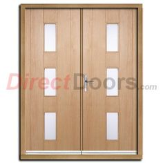 Delivery; 48 - 72 Hours and free anywhere on the UK mainland, Islands and exports by arrangement.    TheCopenhagen oak exterior double door withfrosted double glazing has that sharp modern feel to it, the timber itself is an undecorated real american white oak veneer for your paint or stain over a solidly constructed engineered core. ThisCopenhagen oak exterior double door is popular with new builds and traditional homesand like all of our doors is ...