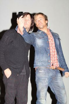 Sean Patrick Flanery and Norman Reedus selfie.