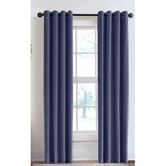 "Veratex Velvet Soft Luxury Grommet Single Curtain Panel Color: Juniper, Size: 50"" W x 120"" L"