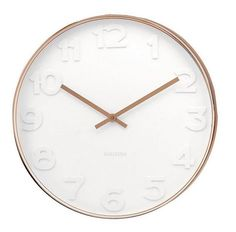 Wall Clock Mr White Numbers Copper - Large