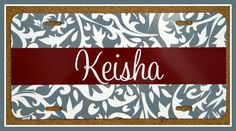 License Plate Car Tag Personalized Monogrammed by ChicMonogram
