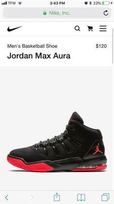5c99ab1e9271a Jordan Max Aura Mens 10.5 Black Black   Gym Red   White  fashion  clothing