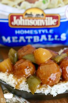 Crock Pot Sweet Sour Meatballs is the most unbelievably yummy recipe! Serve them as an appetizer or over rice to make it a full meal! Sweet N Sour Meatball Recipe, Sweet And Sour Meatballs, Meatball Recipes, Meatball Appetizers, Slow Cooker Recipes, Crockpot Recipes, Cooking Recipes, Yummy Recipes, Crockpot Dishes