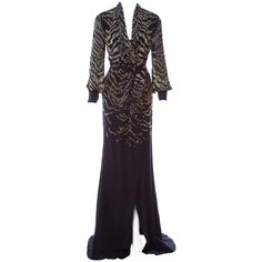 For Sale on - Roberto Cavalli Silk Embellished Kimono Dress. Italian size Tiger pattern dazzling black dress with golden and metallic handcrafted beads. Green Evening Gowns, Evening Dresses, Kimono Dress, Silk Dress, Kimono Fashion, Fashion Outfits, Viscose Dress, Stretch Dress, Black Sequins