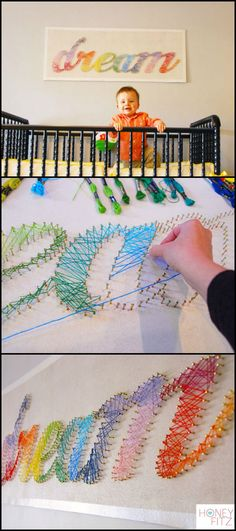 Need a new wall decoration for your room? Here's one DIY idea you might enjoy!  http://kids.ideas2live4.com/2015/08/17/string-art-tutorial/  A string and nail wall decoration is a great creative idea for using up all your excess nails and timber or plywood. But this particular string art project uses light-weight material, making it easier to do and safer to display in any room.  Like it? Learn how it's made and be inspired to make your own version. :)
