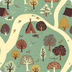 Green Park Rivers | Enchanted Forest Collection | Organic Cotton