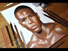 21 year old art student draws a life-like portrait of Floyd Mayweather by Heather Rooney
