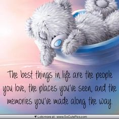 Best things in life Cute Teddy Bear Pics, Teddy Bear Quotes, Teddy Bear Images, Teddy Bear Pictures, Cute Bears, Sweet Quotes, Cute Quotes, Sweet Sayings, Son Quotes