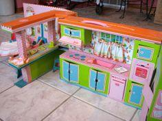 Rare Vintage 1964 Barbie's Dream Kitchen-Dinette with Furniture Original Owner