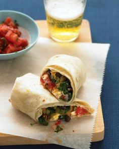 """Martha Stewart: See the """"Burritos with Squash and Goat Cheese"""" in our Vegetarian Sandwich and Wrap Recipes gallery"""