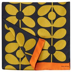 Sixties Stem Print Scarf Olive
