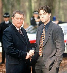 'Midsomer Murders' with John Nettles and Daniel Casey as DCI Tom Barnaby and DS GavinTroy Inspector Barnaby, Bbc Tv Shows, Midsomer Murders, Tv Detectives, British Invasion, Agatha Christie, British Actors, Favorite Tv Shows