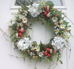 Strawberry Decor Kitchen Decor Everyday Wreath Front Porch Wreath Front Door Wreath Strawberry Wreath All Seasons Wreath Berry Wreath