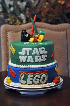 My nephew's Lego Star Wars cake.