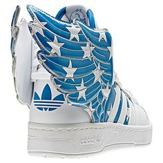 new style 63dcc bf223 Men s Adidas Originals - Jeremy Scott Wings 2.0 Shoes White Air Force Blue  The designer