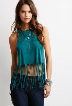 Brushed Knit Fringe Top | Forever 21 | #thelatest