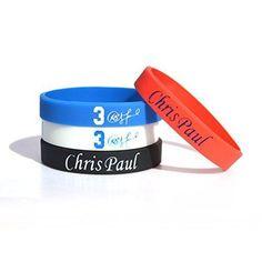 #Nba #ChrisPaul #3D #Silicone #Wristband #Bracelet
