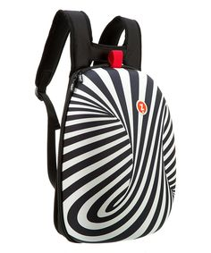 I love this bag! Black & White Hard Shell Backpack by ZIPIT® #zulilyfinds