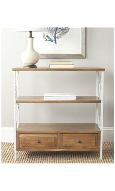 Safavieh American Home Collection Chandra Oak and White Smoke Console Table Best Price