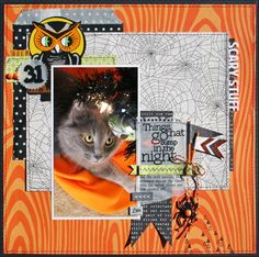 Love the title ~ SCARY STUFF ~ Creatively Savvy: Sketchy Thursday at Scraptastic