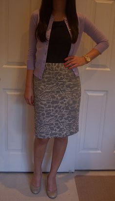 work wear. I prefer pencil skirts for my body type, but I usually go with black. need to try more patterns/textures