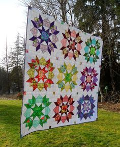 Quilt Story: Blueberry Patch swoon quilt finish...