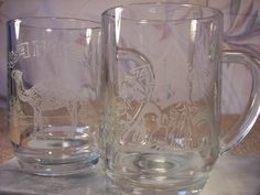 2  1991 Camel Etched Beer Glasses by ECCENTRICRON on Etsy
