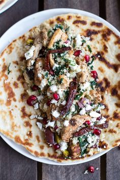 Middle Eastern Chicken and Couscous Wraps with Goat Cheese by halfbakedharvest #Wrap #Chicken #Healthy #Easy
