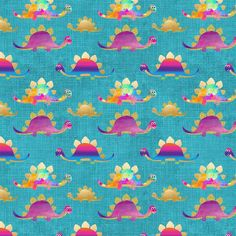 Dinos Teal Single Jersey, sold by half metre, preorder Flamingo Fabric, Dinosaur Fabric, Dinosaur Design, Best Stretches, Fabulous Fabrics, Projects For Kids, Poland, Sewing Crafts, Printing On Fabric