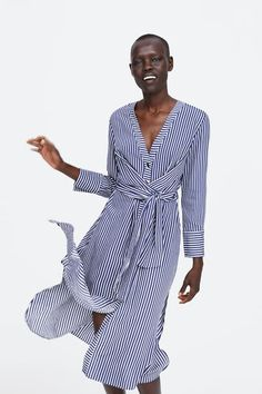 5f42c5e0e Image 5 of STRIPED BELTED DRESS from Zara Zara, Vestido Com Cinto, Moda 2018