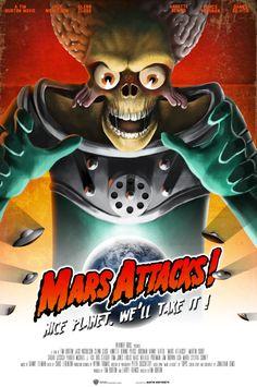 Mars Attacks ! Art Print by Martin Woutisseth | Society6
