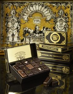 TWG Tea infused chocolate bonbons