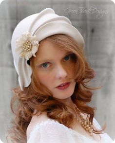 Wedding Cloche Hat by GreenTrunkDesigns on Etsy