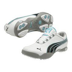 6e3eb6b7c4f Puma Golf Sunny 2 Women s Golf Shoes-White Black Blue Radiance Golf Fashion