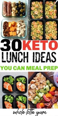30 Low Carb Keto Lunches and meals you can meal prep! Meal prepping makes a keto diet for beginners easier, these also make fantastic low carb and keto dinner ideas too. keto dinner 30 Low Carb Keto Lunch Ideas to Meal Prep Ketogenic Diet Meal Plan, Ketogenic Diet For Beginners, Ketogenic Recipes, Diet Menu, Ketosis Diet, Keto For Beginners, Free Keto Meal Plan, Atkins Diet, Meal Prep Plans